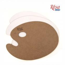 Oval wooden palette, primed fibreboard, ROSA Studio