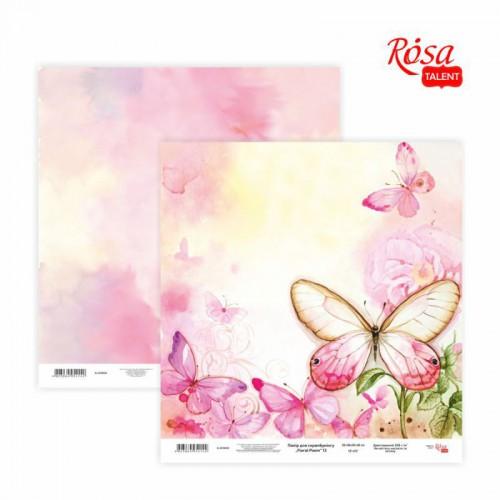 """Скрап бумага """"Floral Poem"""" 30,48x30,48см, 200г / м2 ТМ ROSA TALENT"""