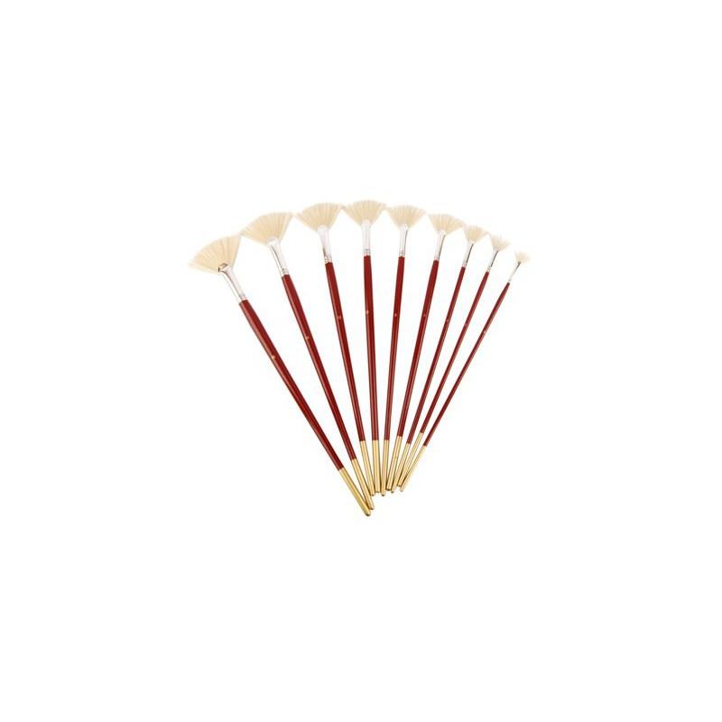Bristle Fan Brushes, 6007, Long Handle, KOLOS by ROSA