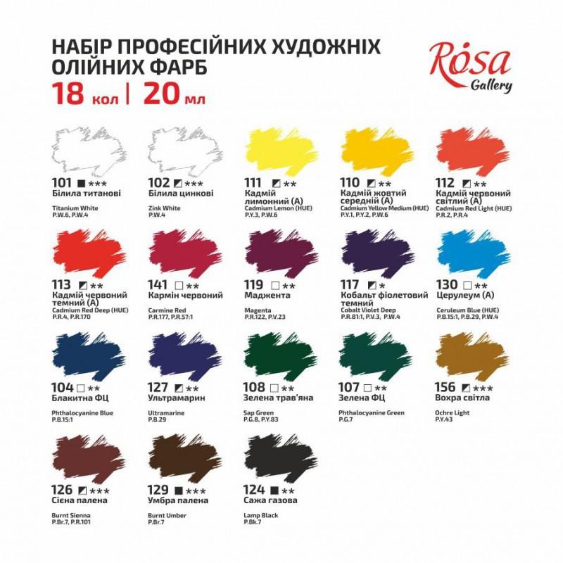 Набор масляных красок 24х20мл ROSA Gallery