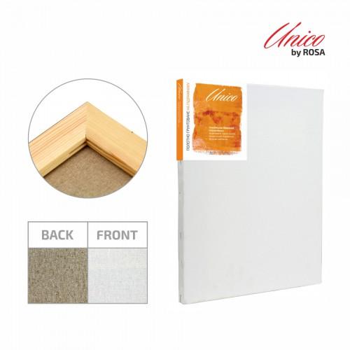 Stretched canvas Italian cotton fine grain Unico