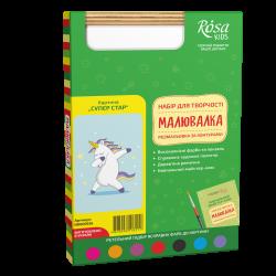 """""""Superstar"""", kit, painting by outlines """"Maluvalka"""", 20х30 cm, ROSA KIDS"""