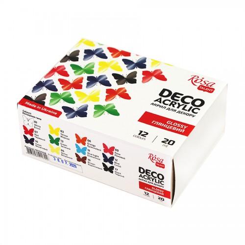 Paints gloss 9x20ml ROSA START