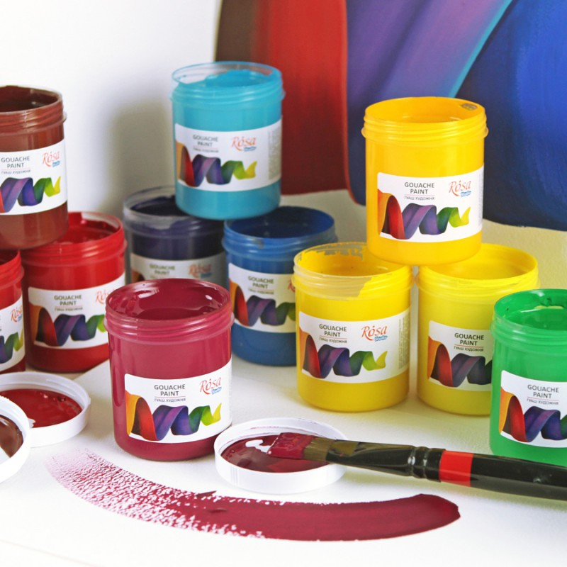 Краски гуашевые 100мл ROSA Studio