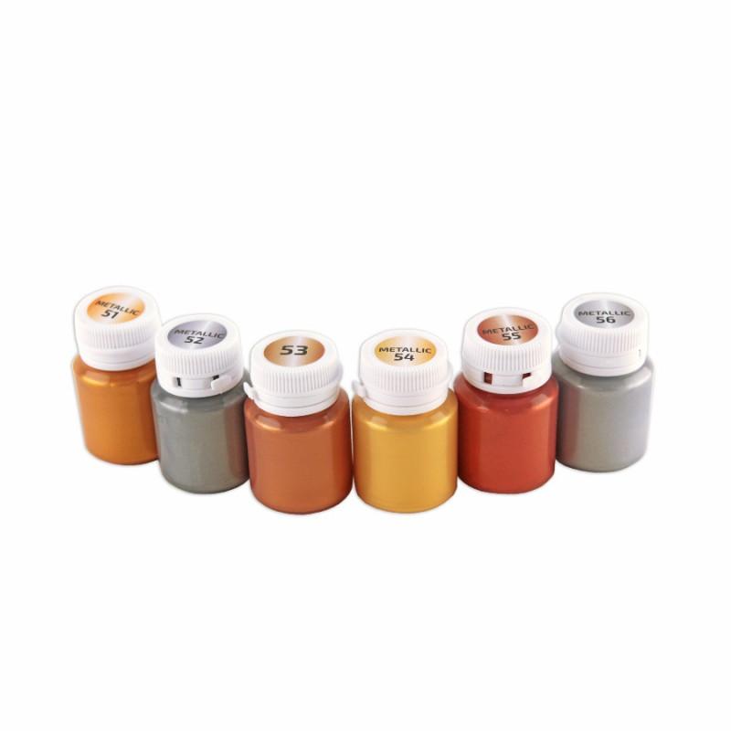 Краски для декора металики 6цв 20мл ROSA ТАLENT