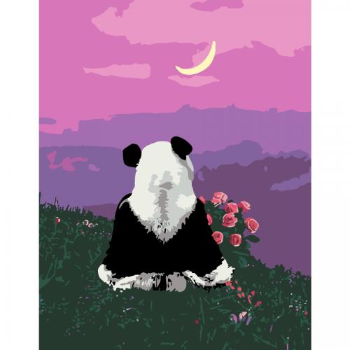 """Cute Panda"", kit, painting by numbers, 35х45cm, ROSA START"