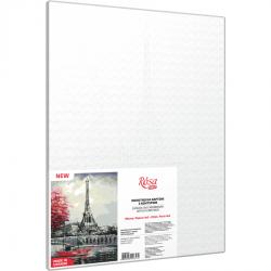 "Cities, ""Paris 3"", Canvas Panel with outline, 30х40cm, cotton, acrylic, ROSA START"