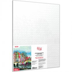 "Cities, ""Amsterdam 3"", Canvas Panel with outline, 30х40cm, cotton, acrylic, ROSA START"