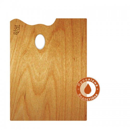 Палитра деревянная промасленная