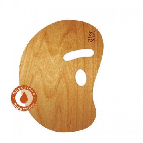 Палитра деревянная, овальная МОДЕРН, эргономичная, промасленная, ROSA