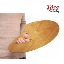 Oval anatomical oiled palette, water-resistant veneer, ROSA Gallery