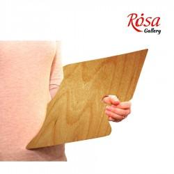 Палитра деревянная, прямоугольная МОДЕРН, эргономичная, промасленная, ROSA