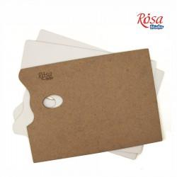 Rectangular wooden palette, primed fibreboard, ROSA Studio
