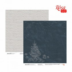 """Paper for scrapbooking """"New Year's magic"""" 30,8 * 30,8cm, 200g /m2 ТМ ROSA TALENT"""
