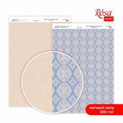"Paper for the card double-sided ""Lace"" Matt  21х29,7cm, 200 g/m2"