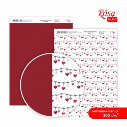 "Matt paper double-sided ""Love"" 21х29,7cm 200g/m2 ROSA TALENT"