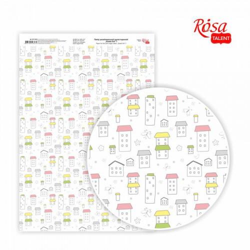 """Slight glossy paper """"Sweet girl """" 21х29,7cm 250g/m2 ROSA TALENT"""