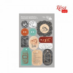 "Adhesive chipboard tags for scrapbooking ""Recipe book"" 12,8х20сm, ROSA TALENT"