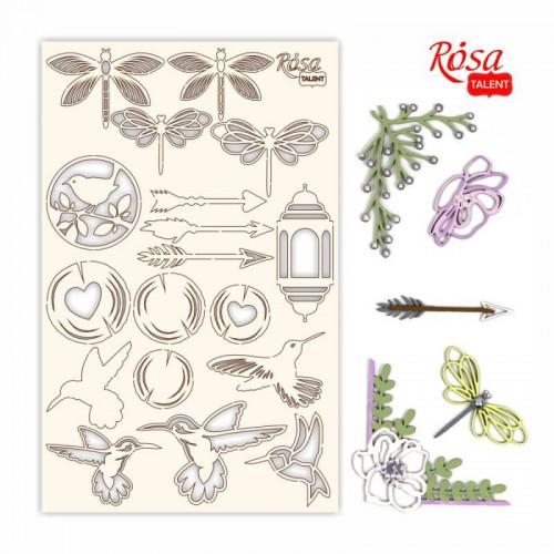 "Chipbord for scrapbooking ""Emotion & Romance"", white board, 12,8х20cm, ROSA TALENT"