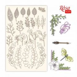 "Chipbord for scrapbooking ""Emotion & Romance"", white board, 12,8х20cm, ROSA TALENT"