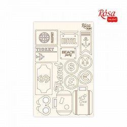 "Chipbord for scrapbooking ""Make your journey"", white board, 12,8х20cm, ROSA TALENT"