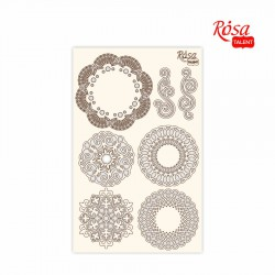 "Chipbord for scrapbooking ""Lace"", white board, 12,8х20cm, ROSA TALENT"