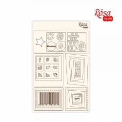 Chipbord for scrapbooking Сlassic, white board, 12,8х20cm, ROSA TALENT