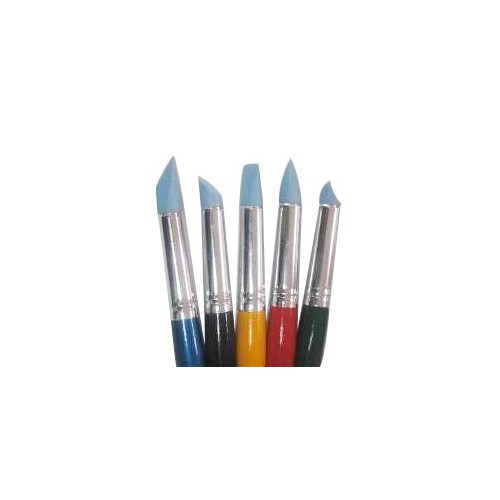Set of brushes 9027-5 Rubber, for pastel 5pc. KOLOS by ROSA