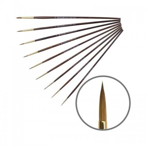 Kolinsky Round Brush, Grace 3039R, Long Handle, KOLOS by ROSA