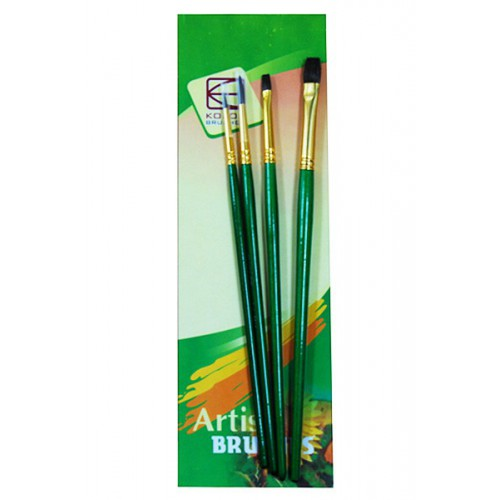 Set of brushes 7065, Pony Round/Flat, 2/2pc. KOLOS by ROSA