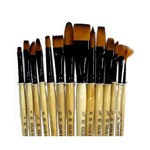 Set of brushes 1115-14 Craftart, Synthetic, 14pc. KOLOS by ROSA