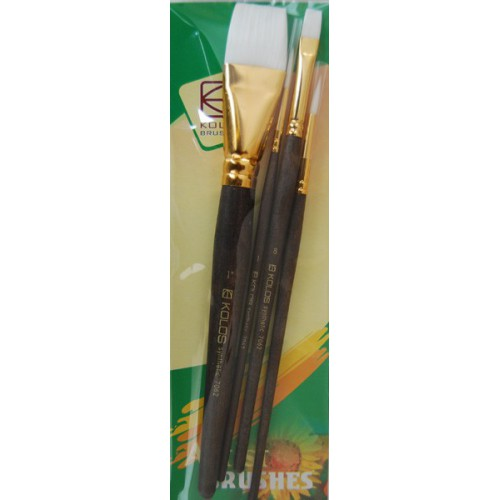 Set of brushes 7062, Synthetic Round/Flat, 2/2pc. KOLOS by ROSA