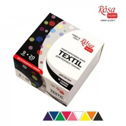 Set of acrylic paints for textile 20ml ROSA Studio