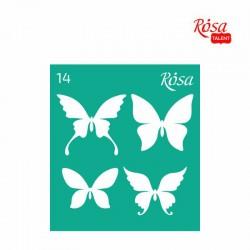 Adhesive Stencil 13x20 cm ROSA TALENT