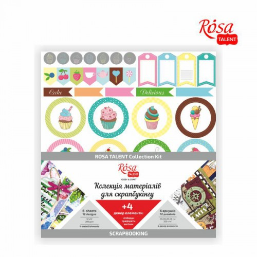 """Scrapbooking collection """"Cake delicious"""" ROSA TALENT"""