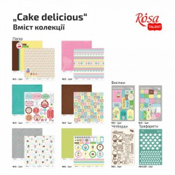 "Scrapbooking collection ""Cake delicious"" ROSA TALENT"