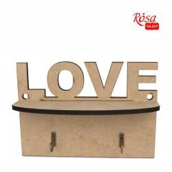 Bases for decoratoin Shelf for keys MDF ROSA Talent