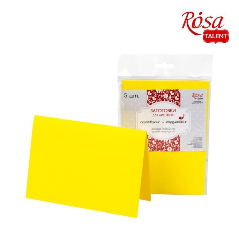 A set of workpieces for leaflets 5 pcs. 16,8х12 220 g/m2 ROSA TALENT