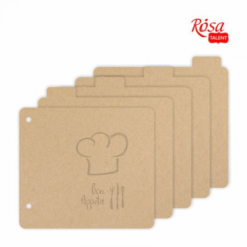 "Аlbum ""Bon appetit "" 20x20.5cm 5 ROSA TALENT"