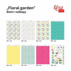 """Набор дизайнерской бумаги одностор. """"Floral garden"""" 21х29,7см 250г/м2 ROSA TALENT"""