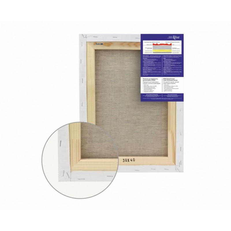 Stretched Canvas, extra fine grain, oil emulsive prime, linen ROSA