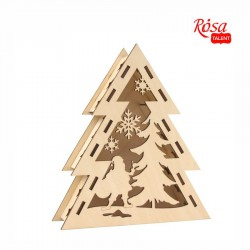 "Sets of workpieces on the ""Winter themes"" plywood stand ROSA TALENT"