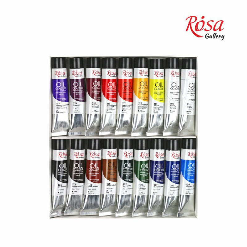 Oil paint set 24*20 ml, ROSA Gallery