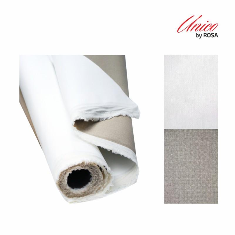 The cloth is in a roll of Italian Unico cotton fine grain