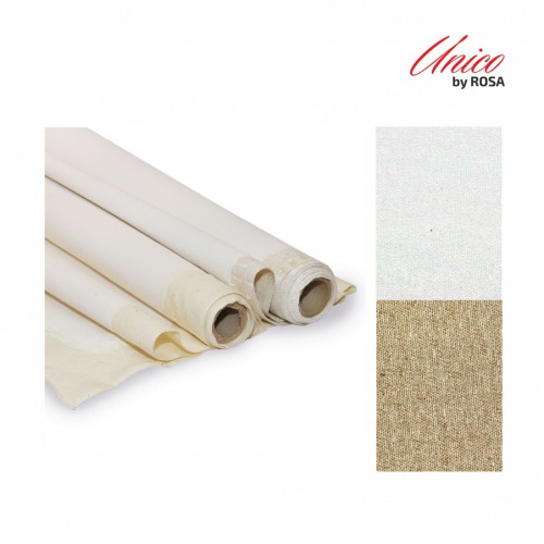 The cloth is in a roll of Italian Unico cotton medium grain