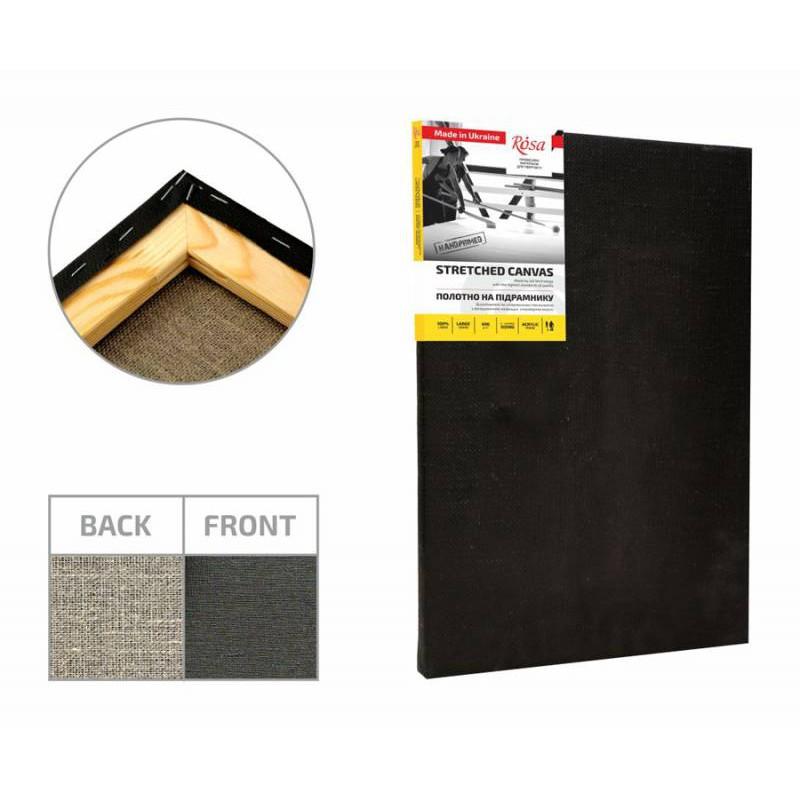 Stretched Canvas, extra fine grain, acrylic prime, linen ROSA