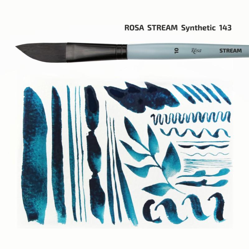 Синтетика плоская, Snow 1098F, д.р. кисть KOLOS by ROSA