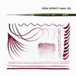 Synthetic Flat Brush, Snow 1098F, Long Handle, KOLOS by ROSA