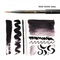 Sable round TRAVEL BRUSH OCEAN 168 short handle ROSA