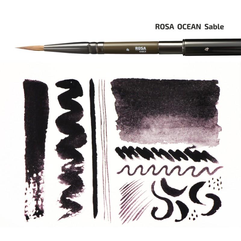 Соболь круглый TRAVEL BRUSH OCEAN 168 к.р. кисть ROSA
